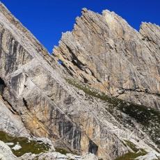 Foro del Tridente sulla cresta di cima dei Preti