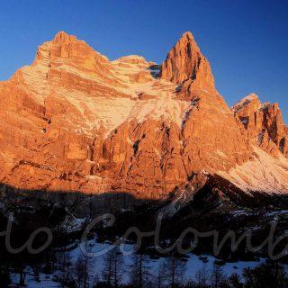 Alba sul monte Pelmo