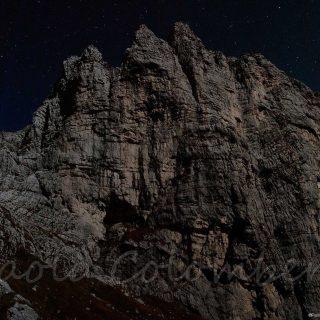 Pizzocco di notte con la luna