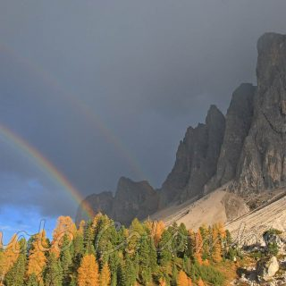 Arcobaleno nelle Odle