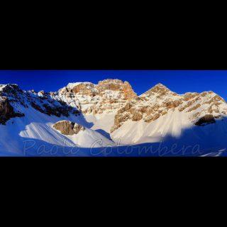 Tramonto e neve sul Croda Rossa