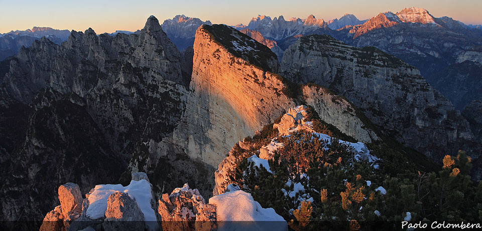 Raccontare le Dolomiti  Tramonto-croda-bianca