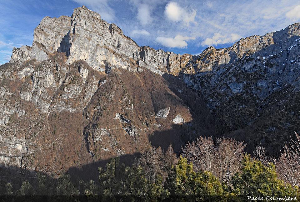 Il monte Coro, che domina la valle Ru da Molin