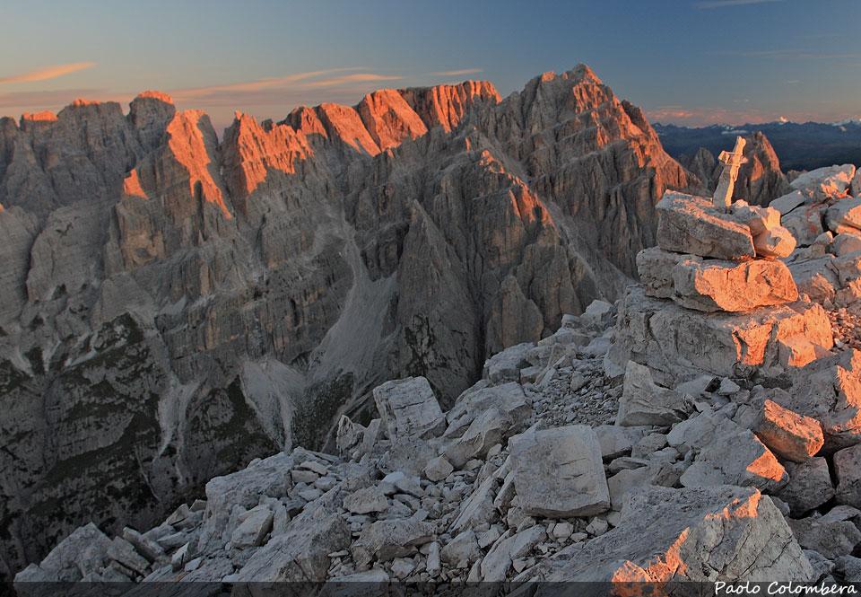 Prime luci sulle montagne del gruppo del Popera