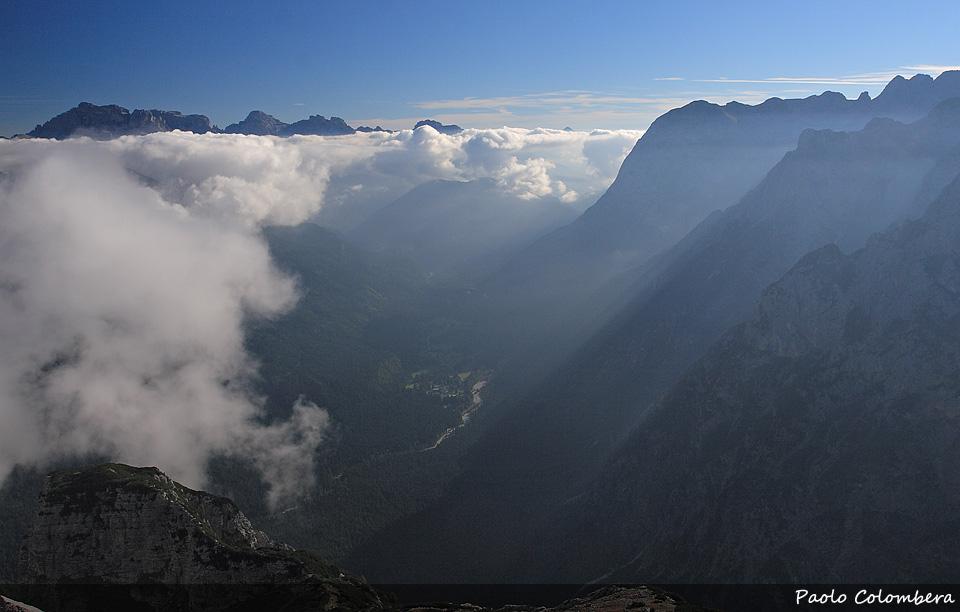 Val d'Ansiei, le Marmarole sulla parte destra della foto