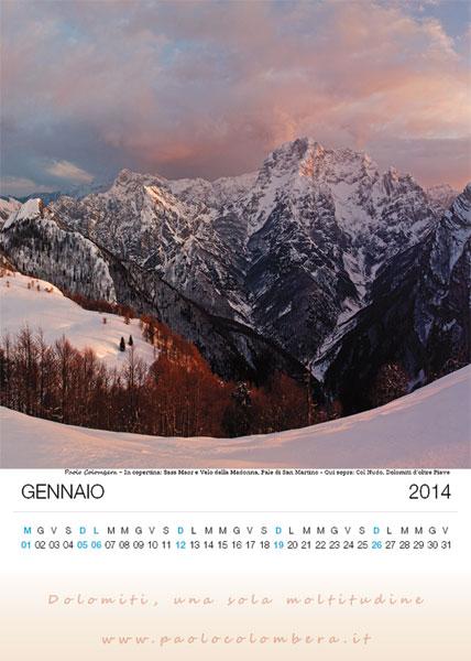 Tramonto sul Col nudo, Dolomiti d'oltre Piave