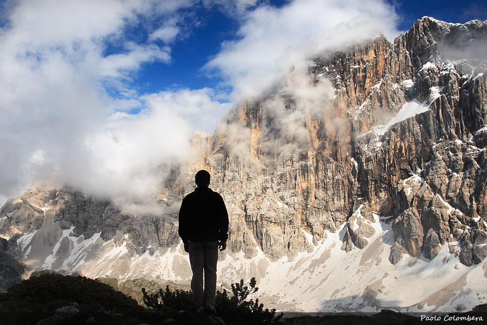 Contemplando la parete Nord Ovest della Civetta