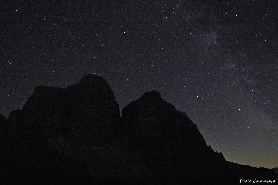Il Pelmo sotto la via Lattea