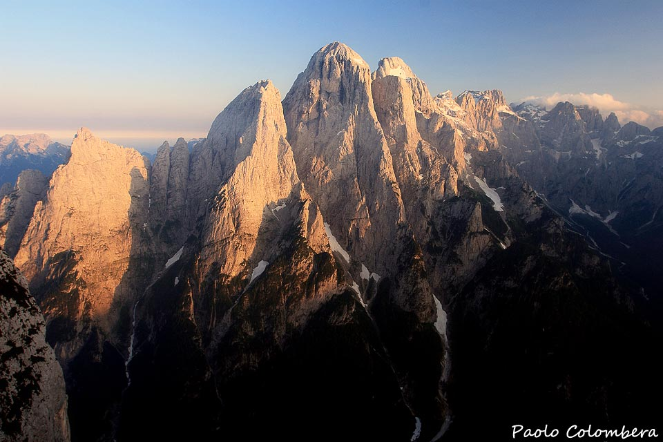 Tramonto nel monte Agner